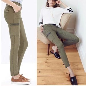 Madewell Skinny Fatigue olive cropped jeans